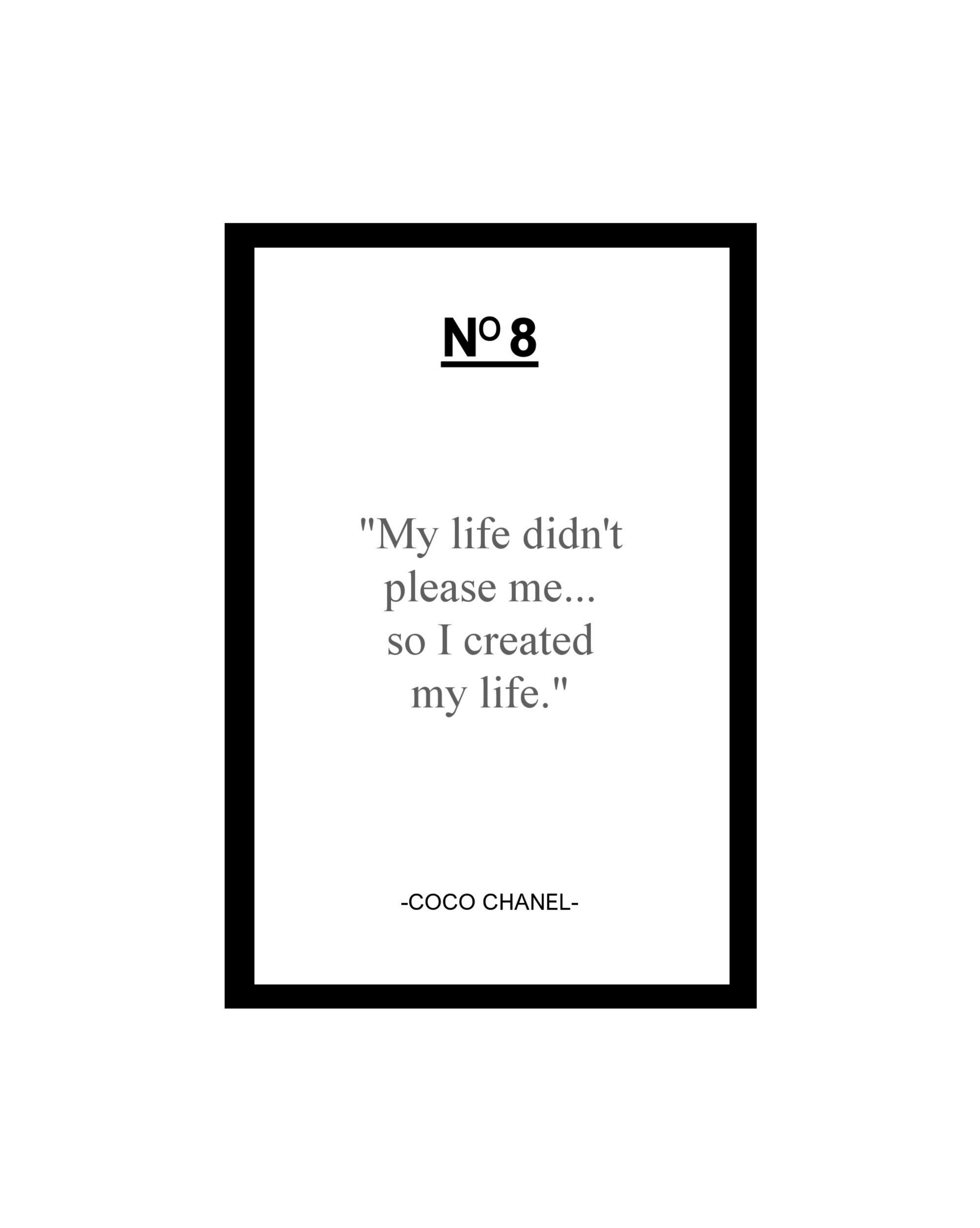 coco chanel quote card